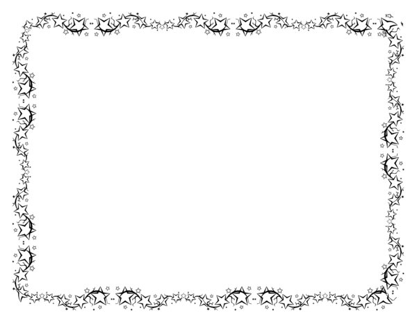 stars page border colouring pages