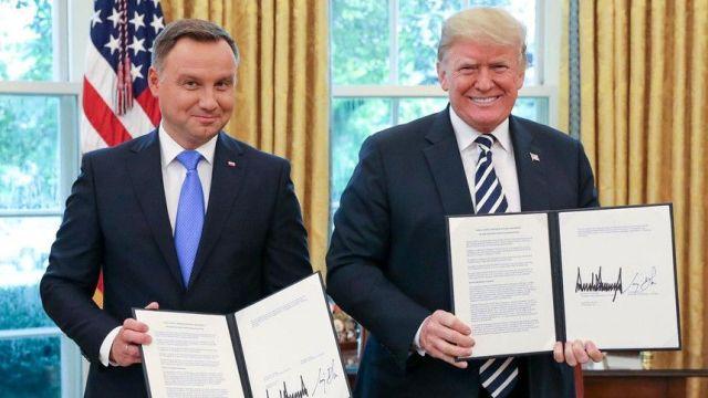 Andrzej Duda i Donald Trump. Spotkanie z 2018 roku w Białym Domu. Fot. KPRP/Jakub Szymczuk