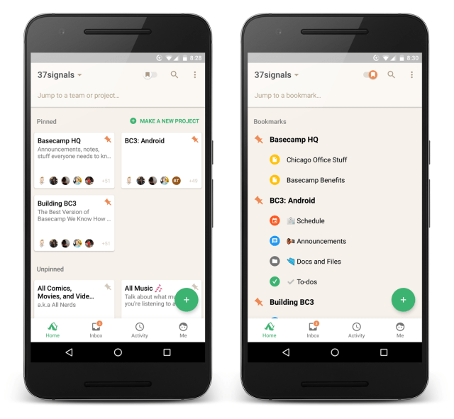 New in Basecamp 3 for Android: Smoother home screen and