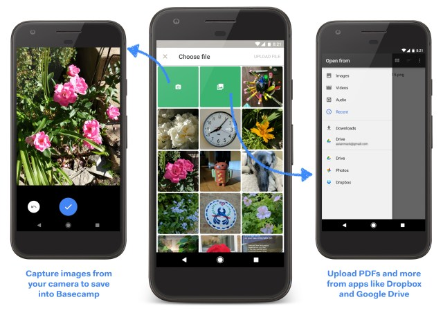 New file upload and browsing in Basecamp 3 for Android