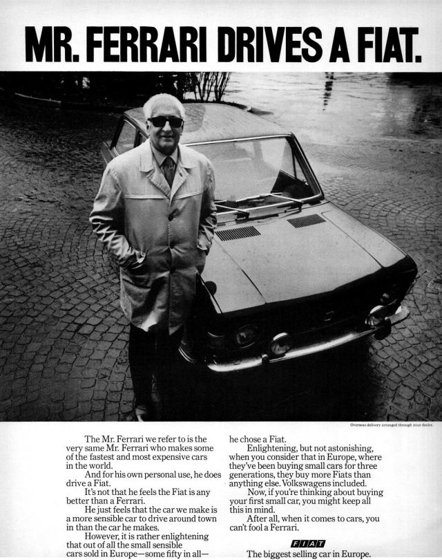a vintage Fiat ad