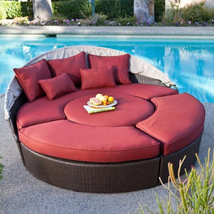 china outdoor round washable furniture daybed cushion manufacturers factory customized outdoor round washable furniture daybed cushion wholesale tentyard