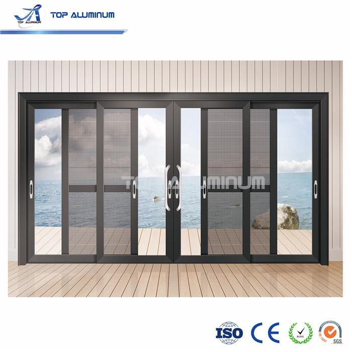 china cheap price 4 panel sliding french patio doors slim aluminium frame double glass sliding door for exterior factory suppliers manufacturers customized cheap price 4 panel sliding french patio doors slim