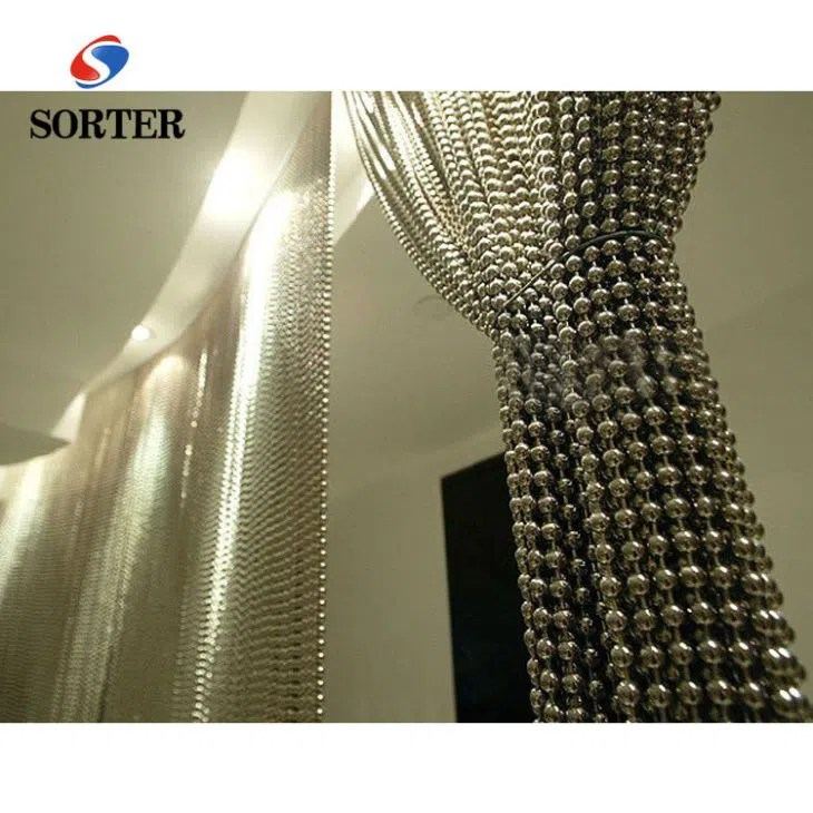 china metal iron screen partition ball chain curtain manufacturers and factory customized products wholesale sorter