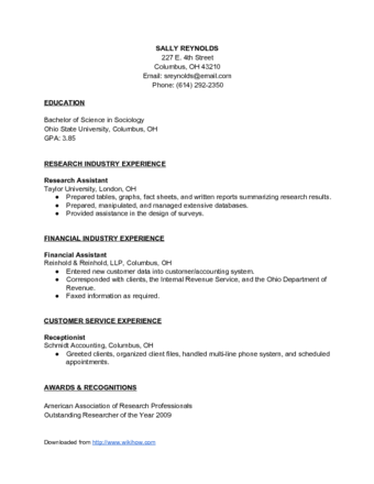 How To Make A Resume With Pictures Wikihow