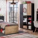 Black Kids Bedroom Set With Study Desk Bookcase Safathome Com Safat Home Kuwait