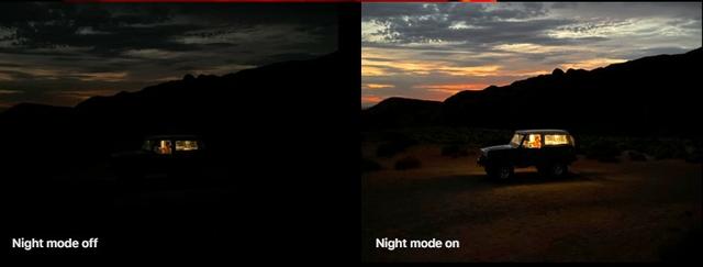 Night mode High tech meets low light.