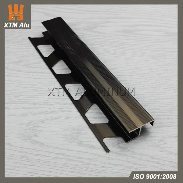 aluminium extrusion tile edge trim profile t shape with punching matt bronze for interior decoration manufacturers and suppliers china factory xingtaomei