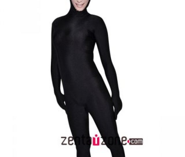 Face Zentai Black Lycra Zentai Suit With Sweet Girl Face  Buy Zentai Spandex