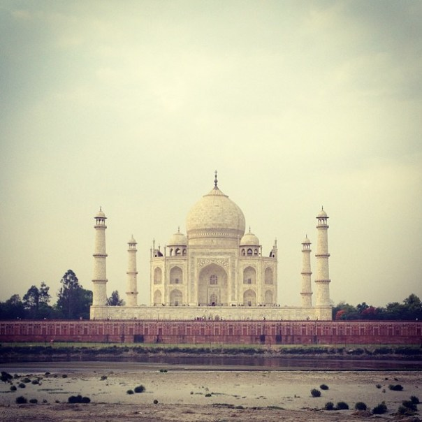 Morning view of Taj Mahal. #India