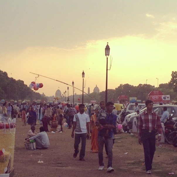 Evening at #India Gate, New Delhi.