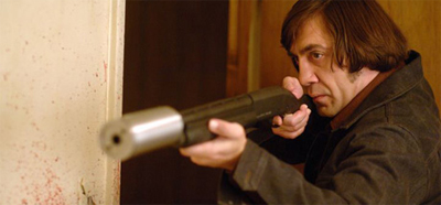 Everytime Chigurh kills somebody, an angel gets its wings. It's pretty crowded up there, too.