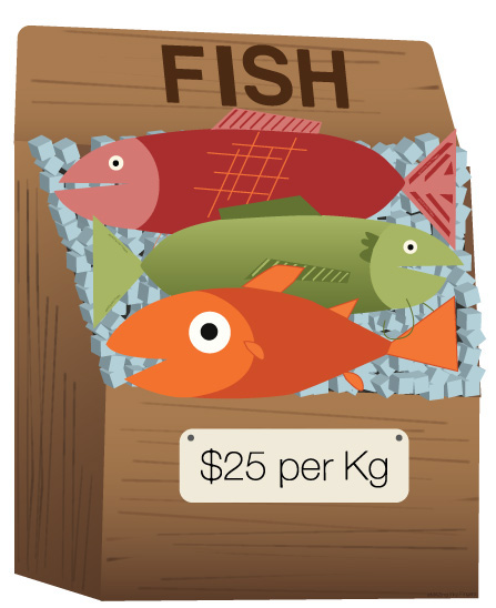 Fish for Sale: Illustration