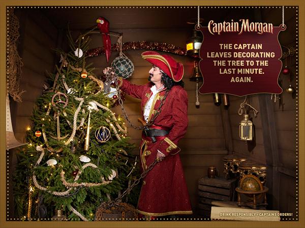 Captain Morgan Christmas On Behance