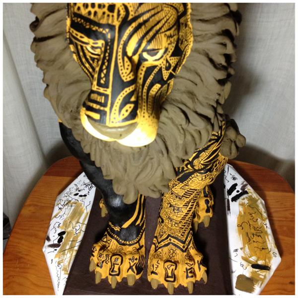 Lion front