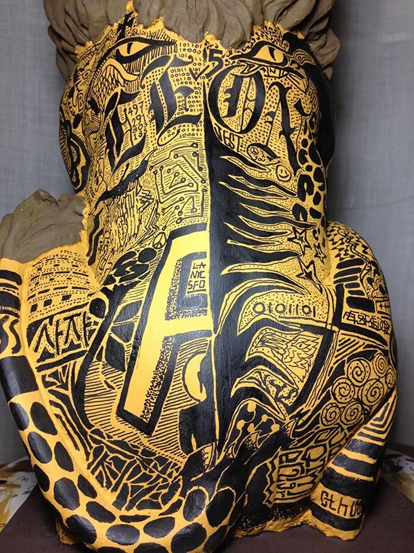 lion back detail