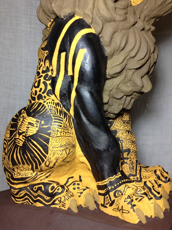 lion right side detail
