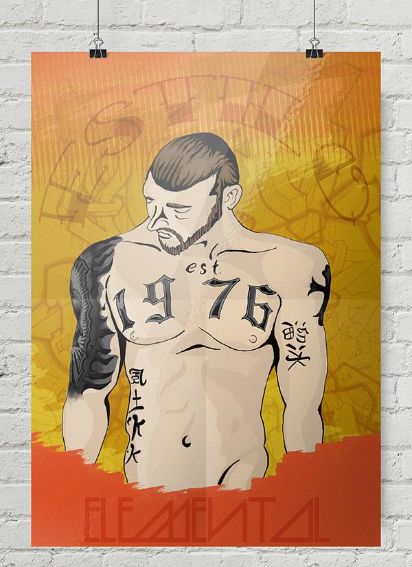 poster street culture arte de rua elemento estilo