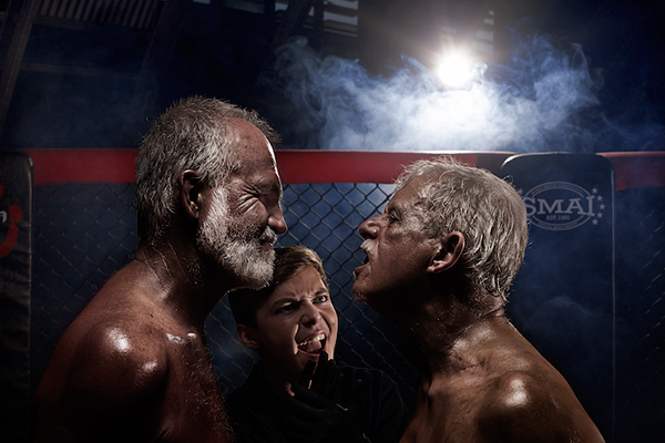 Image result for old men in a fight