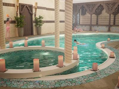 Indoor pool for a Hotel (Dubai-UAE) on Behance