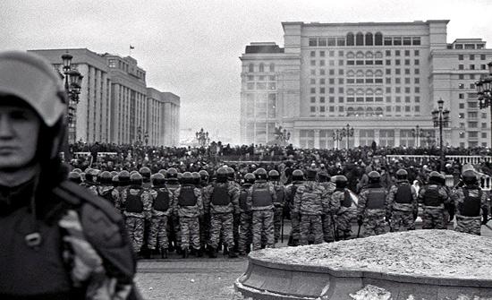 OMON Riot Police on Manezhskaya Square, December 11th, 2010