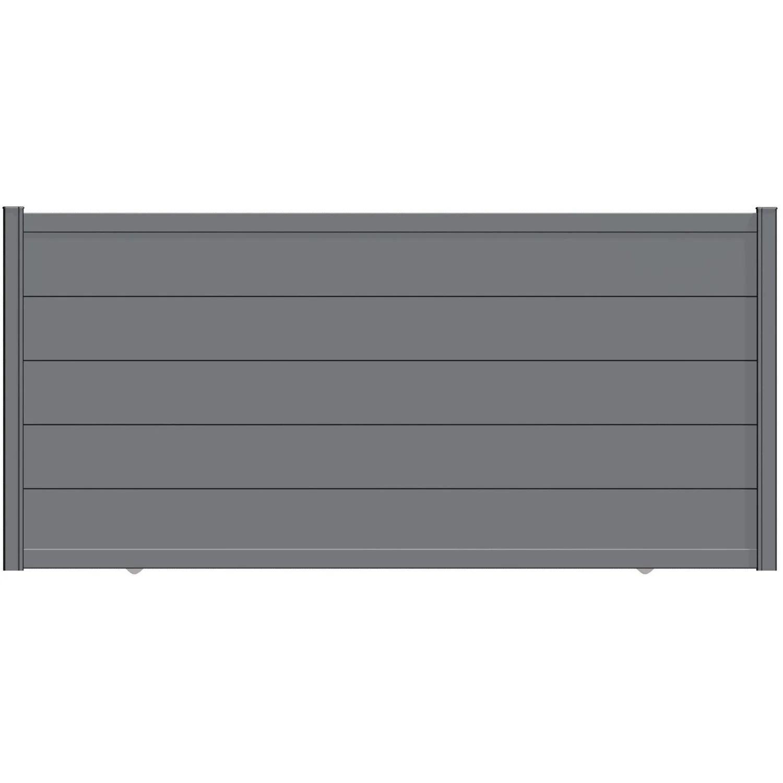 Portail Coulissant Aluminium Hezo Gris Zinc Naterial L 362 X H 170 Cm Leroy Merlin