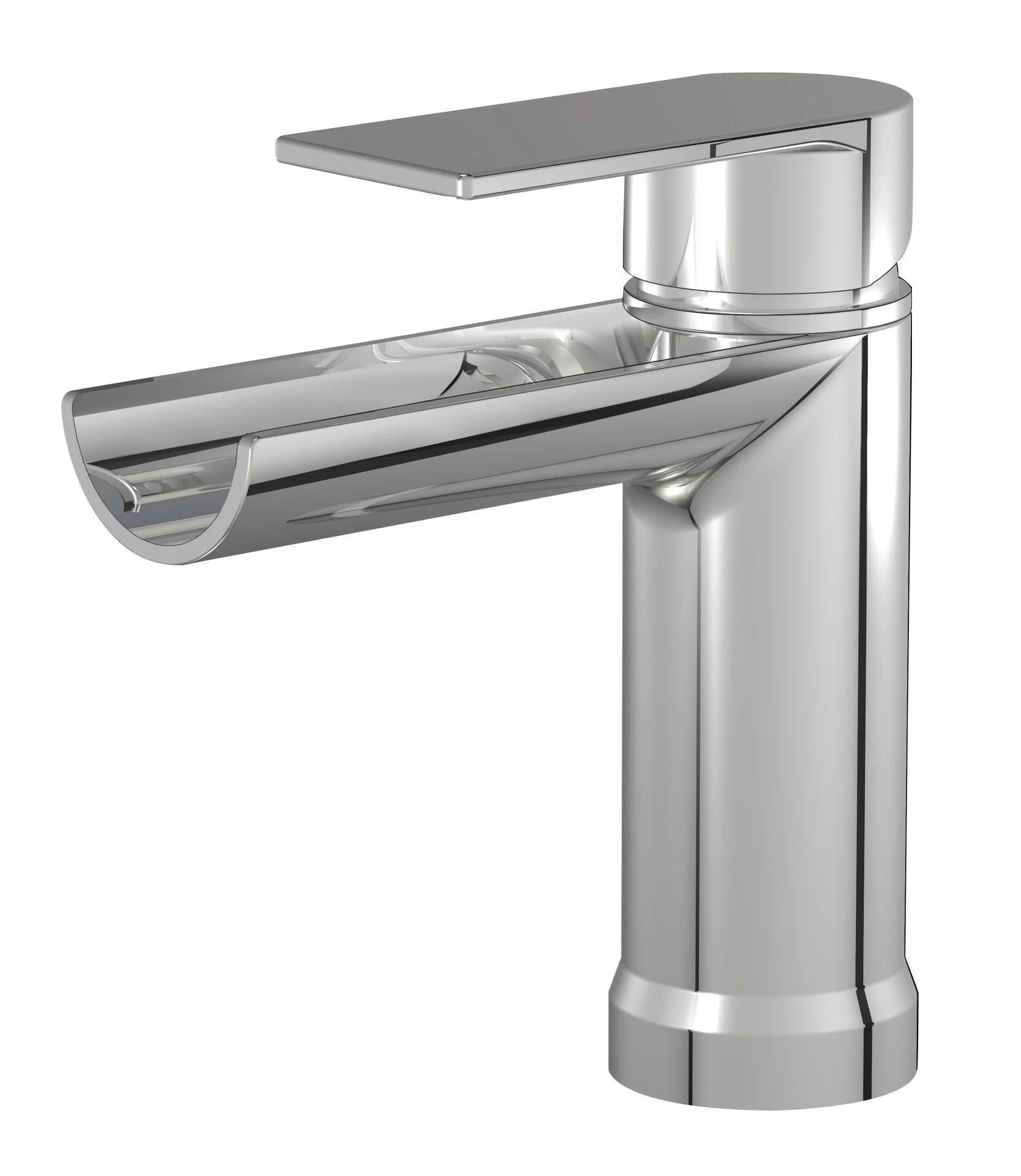 mitigeur de lavabo gris chrome marco mammoliti cascato