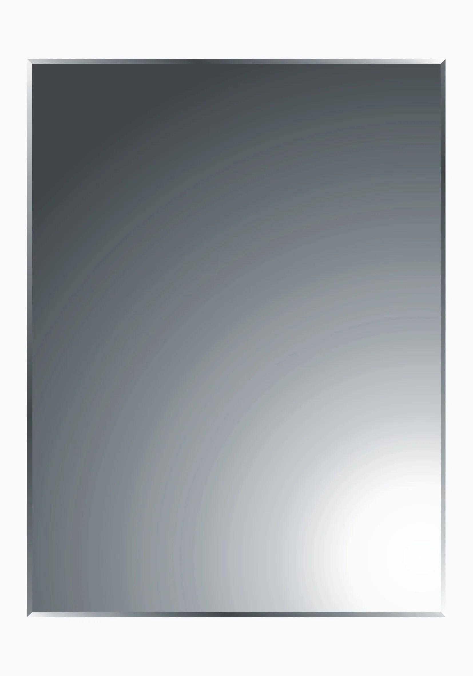 miroir non lumineux decoupe rectangulaire l 45 x l 60 cm biseaute