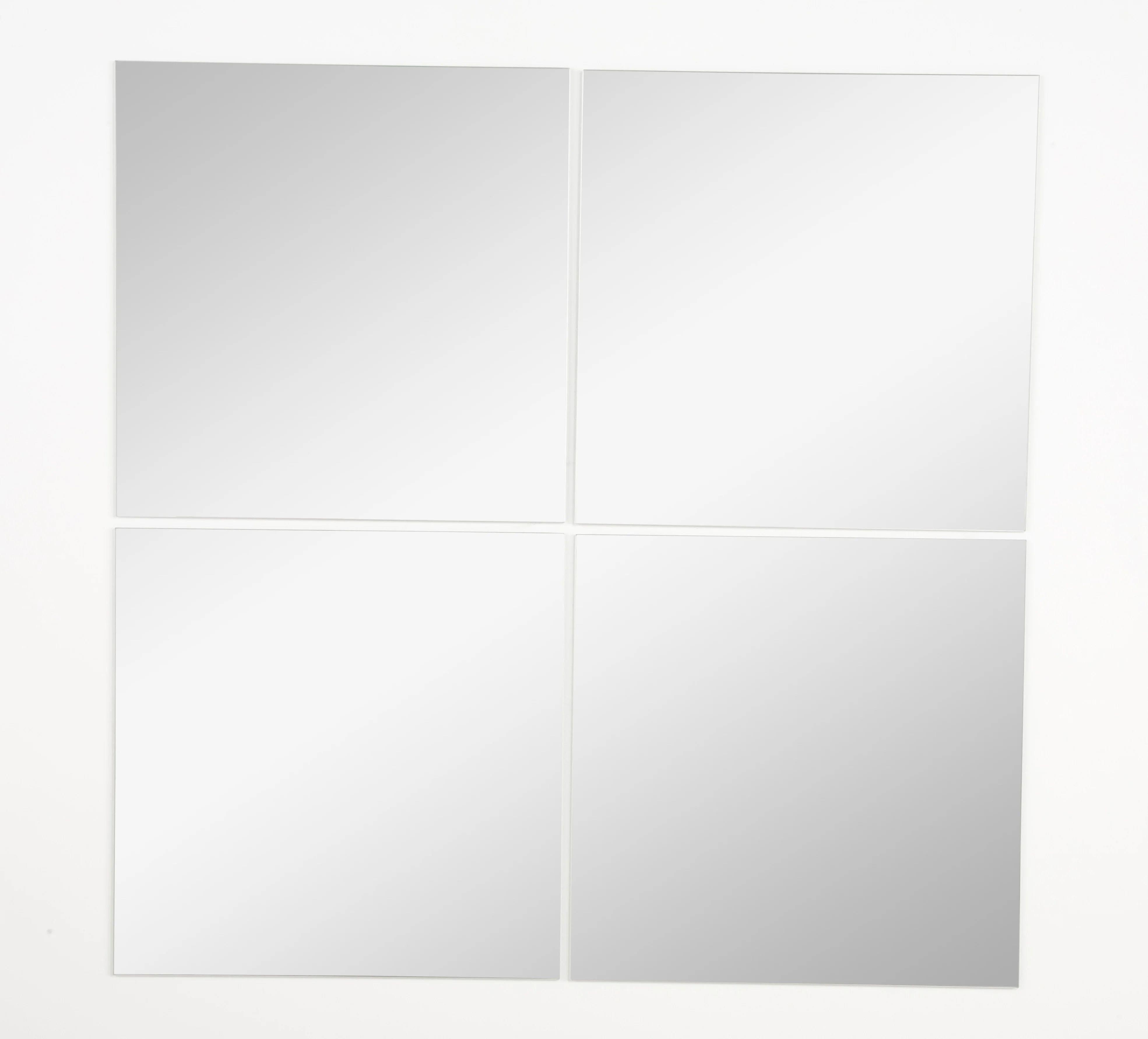 Lot De 4 Miroirs Non Lumineux Adhesifs Carres L 30 X L 30 Cm Leroy Merlin
