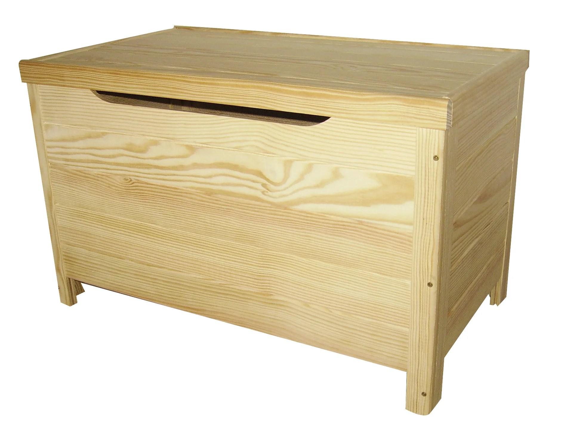 coffre pin beige blanc l 70 x p 40 x h 43 cm cm