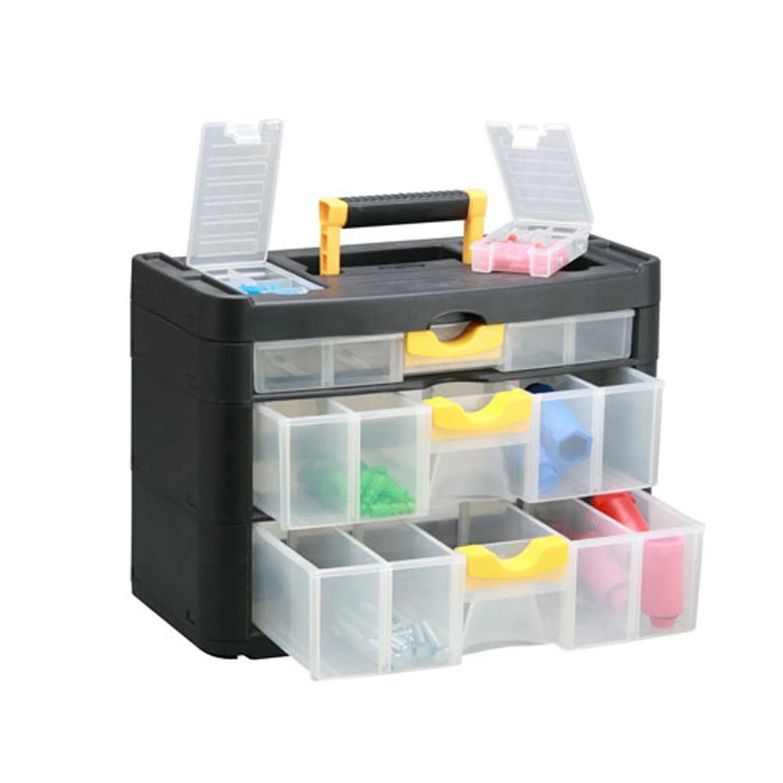 casier a vis plastique 3 tiroirs h 28