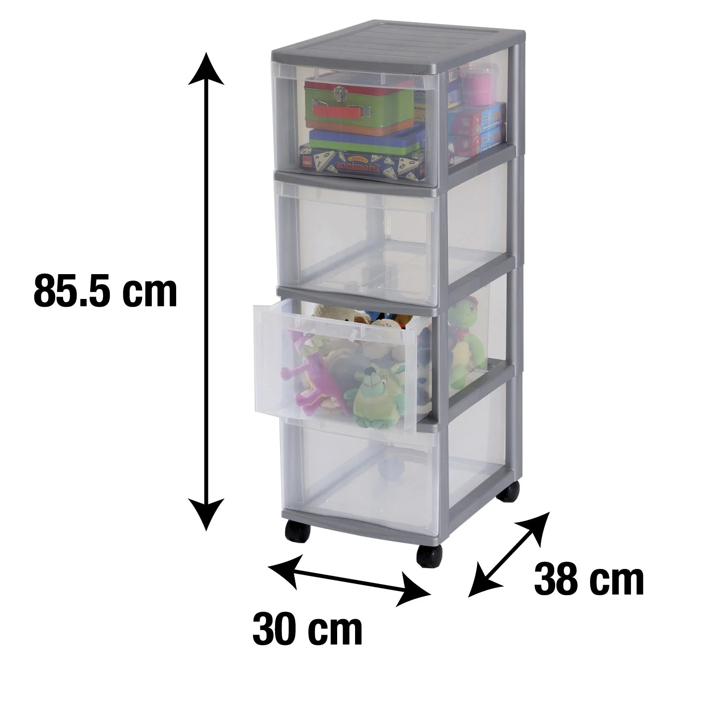tour de rangement optimo plastique l 30 x p 38 x h 85 5 cm