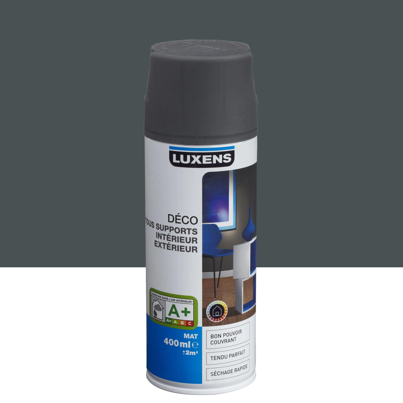 peinture aerosol mat luxens gris