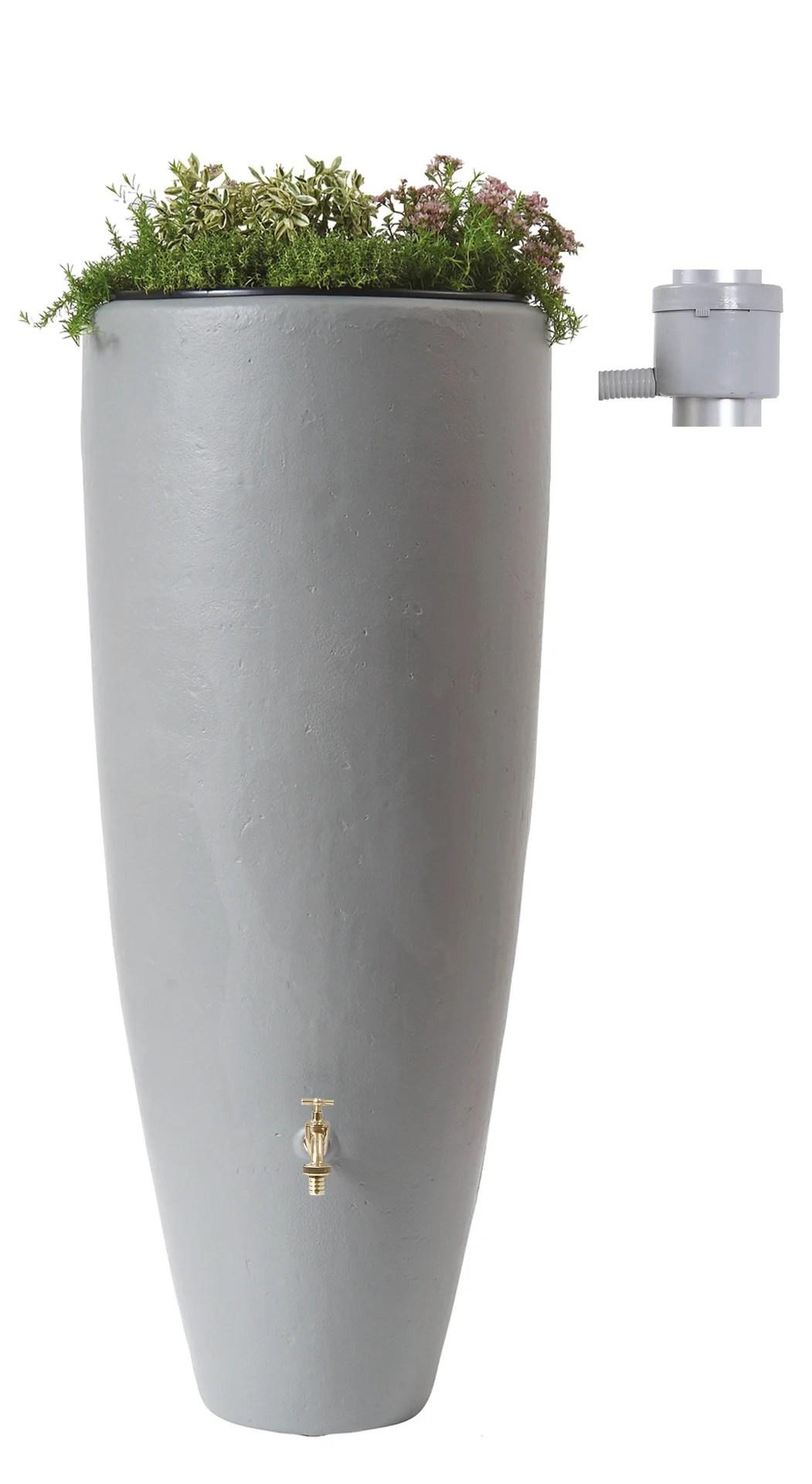 Recuperateur D Eau Et Collecteur Aerien Garantia Cylindrique Gris 300 L Leroy Merlin