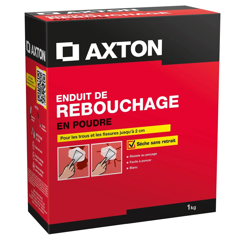 Enduit De Rebouchage Axton 1 Kg En Poudre Pour Plaque De Platre Leroy Merlin