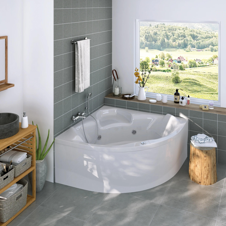 tablier de baignoire balneo d angle blanc l 140 x l 140 cm relax whisper perfect