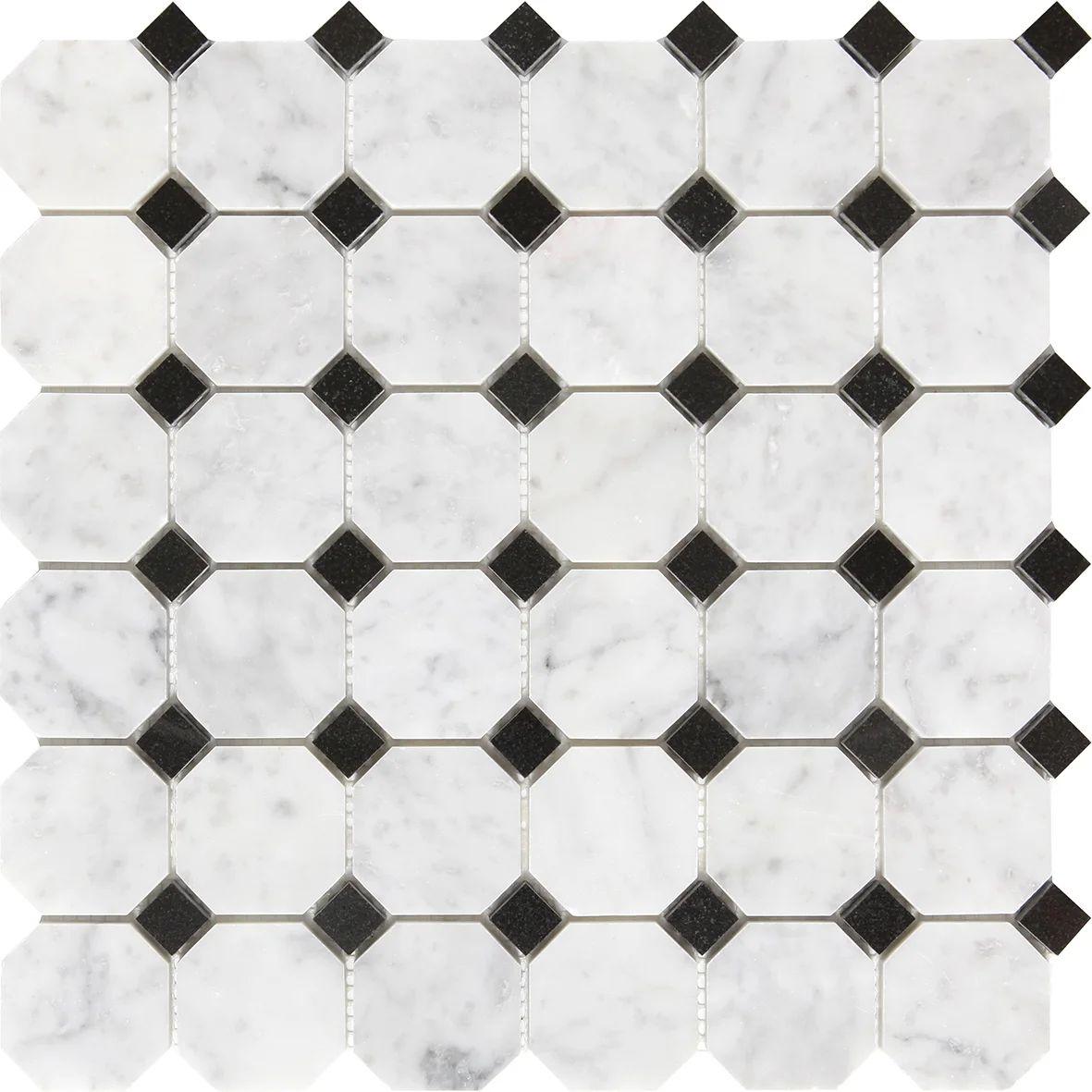 Mosaique Mur Graphik Brit Blanc Et Noir Leroy Merlin
