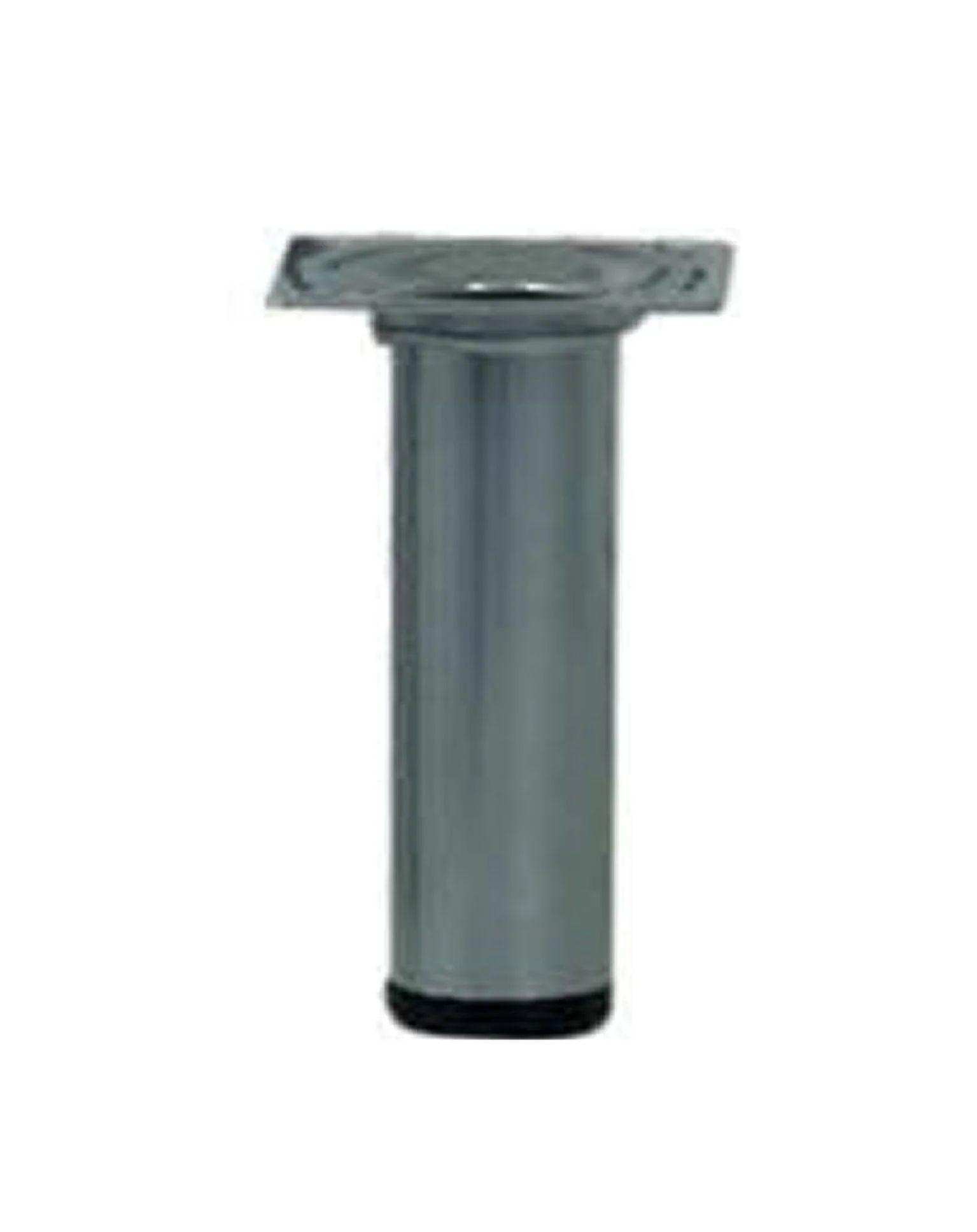 Pied De Meuble Cylindrique Fixe Acier Epoxy Gris 10 Cm Leroy Merlin