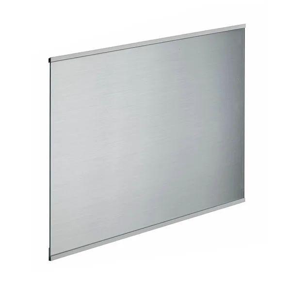 credence verre trempe decor inox h 45 cm x ep 5 mm x l 60 cm