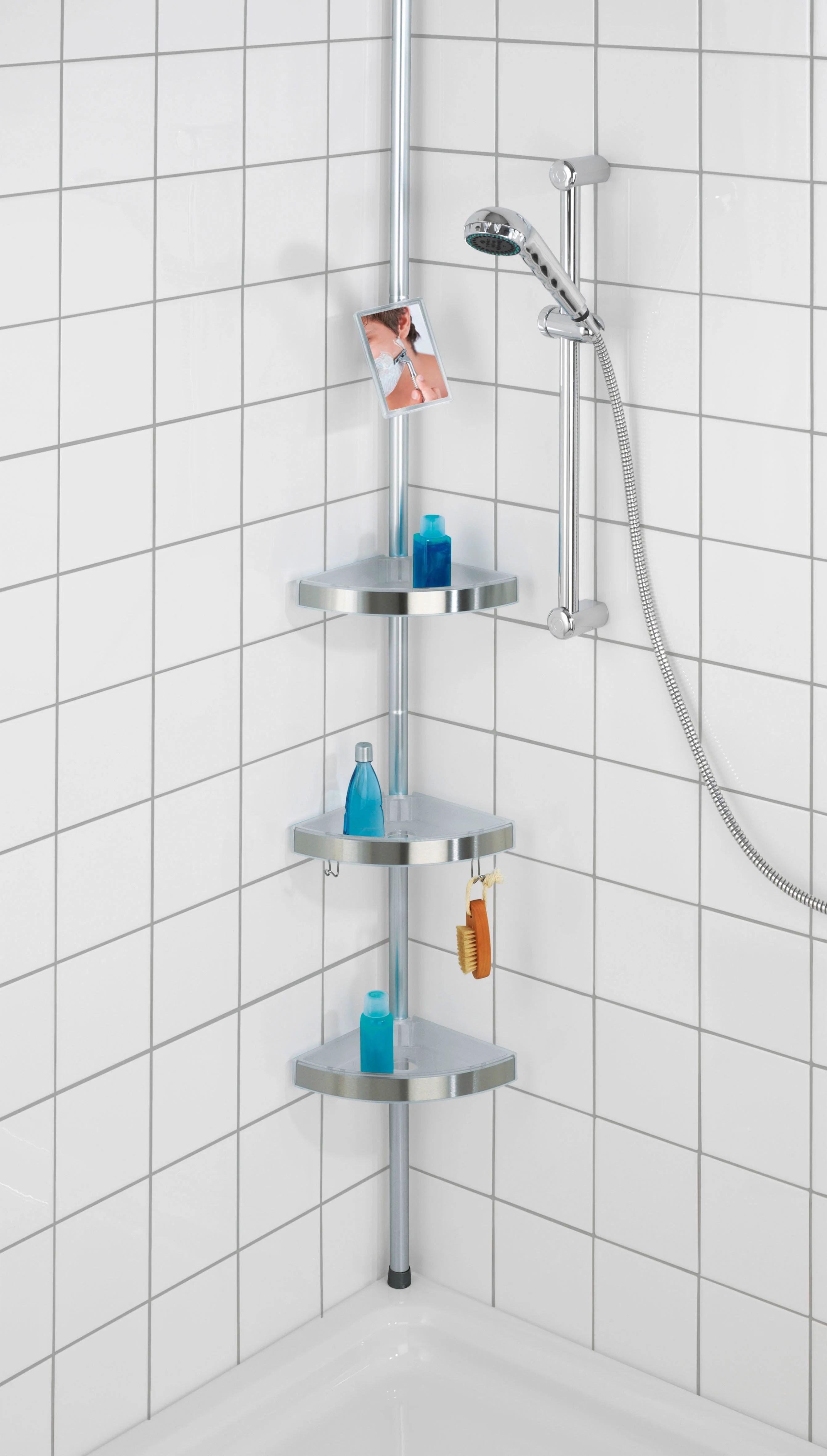 https www leroymerlin fr produits salle de bains baignoire accessoires pour baignoire rangement de bain douche etagere de bain douche premium telescopique sol et plafond chrome wenko 69625262 html