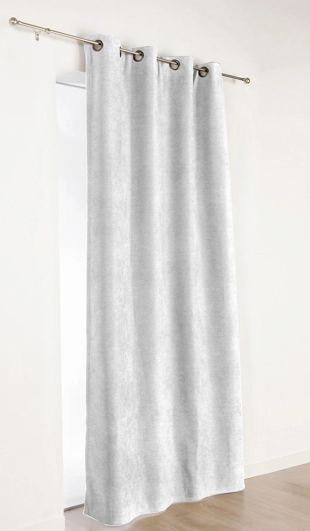 rideau occultant thermique alaska sable l 140 x h 260 cm