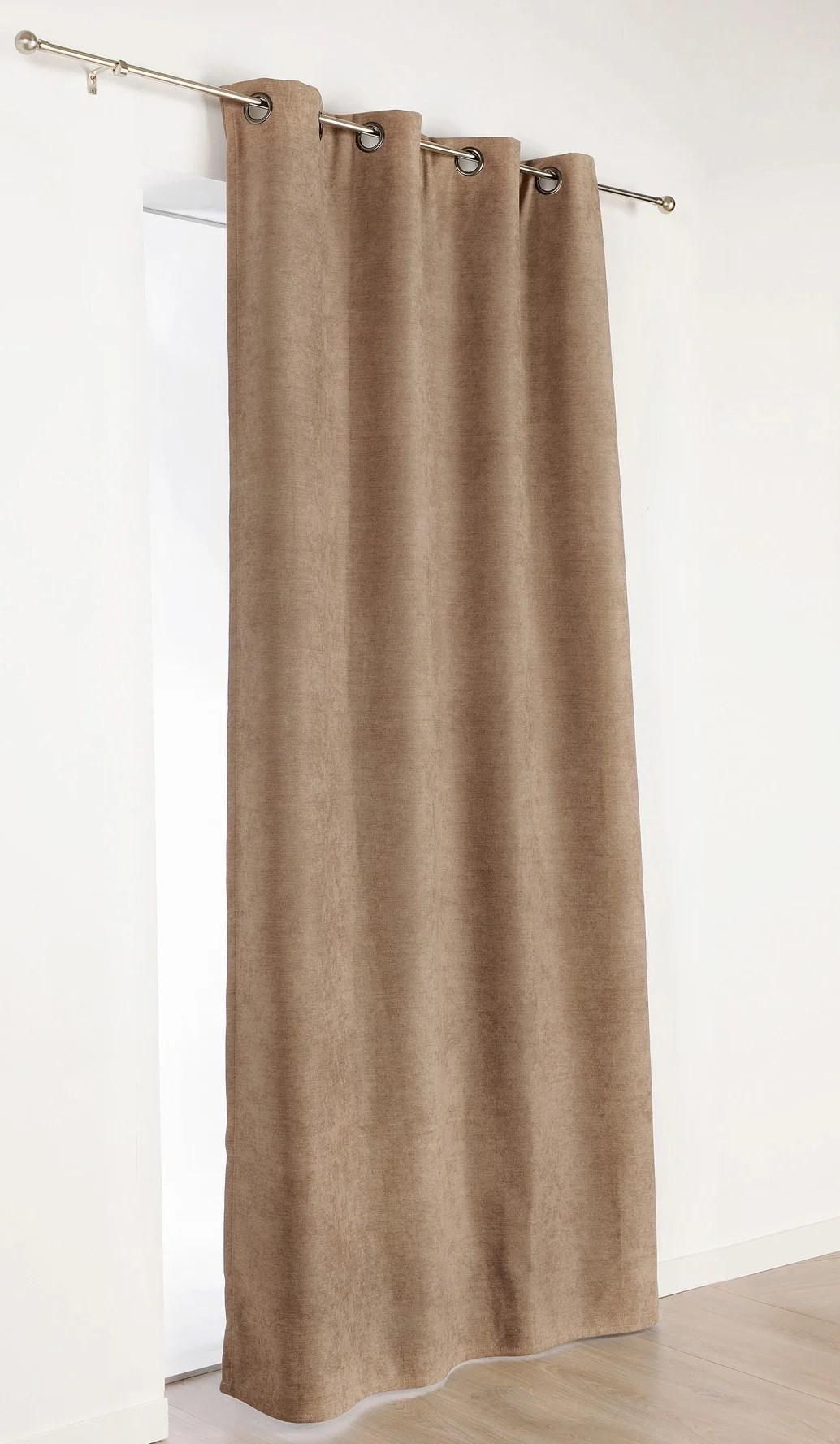rideau occultant thermique alaska chocolat l 140 x h 260 cm