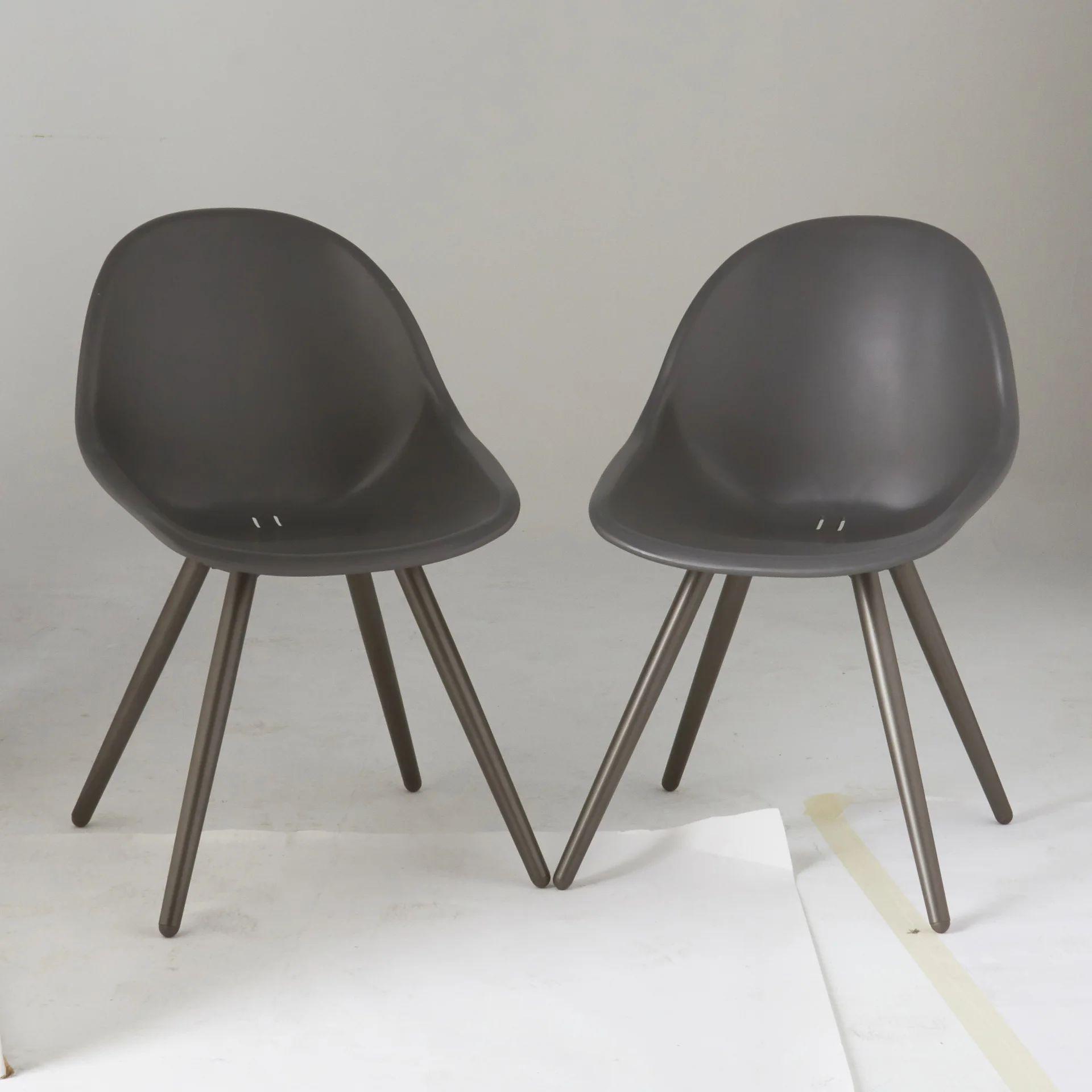 lot de 2 chaises en aluminium salerno