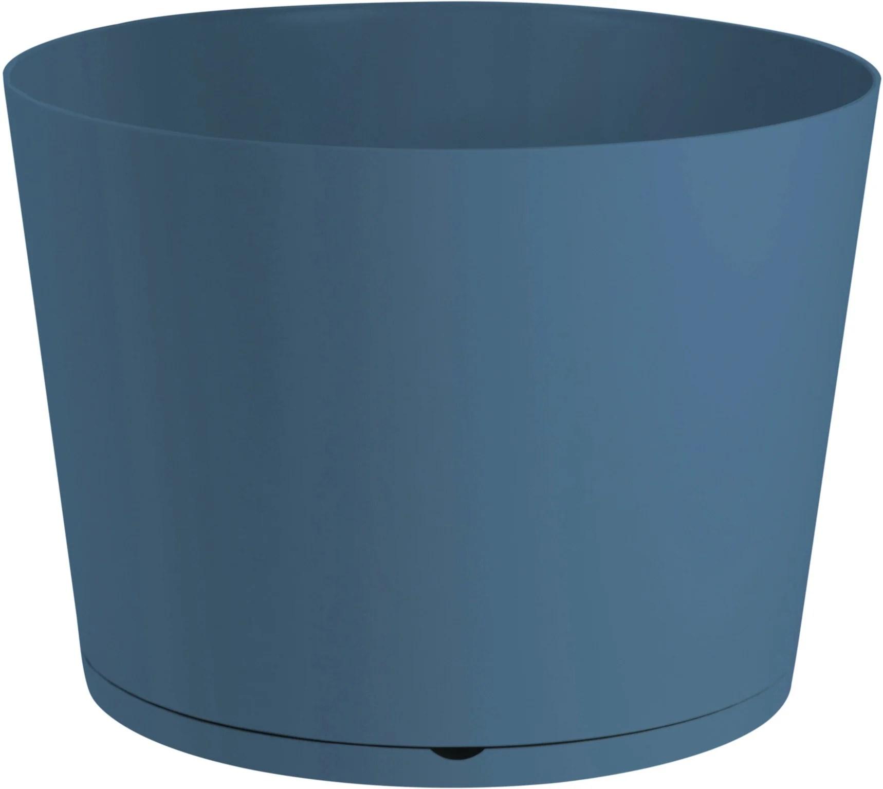 Bac Plastique Pot 2 En 1 Grosfillex Diam 36 L 36 X L 36 X H 25 7 Cm Bleu Denim Leroy Merlin
