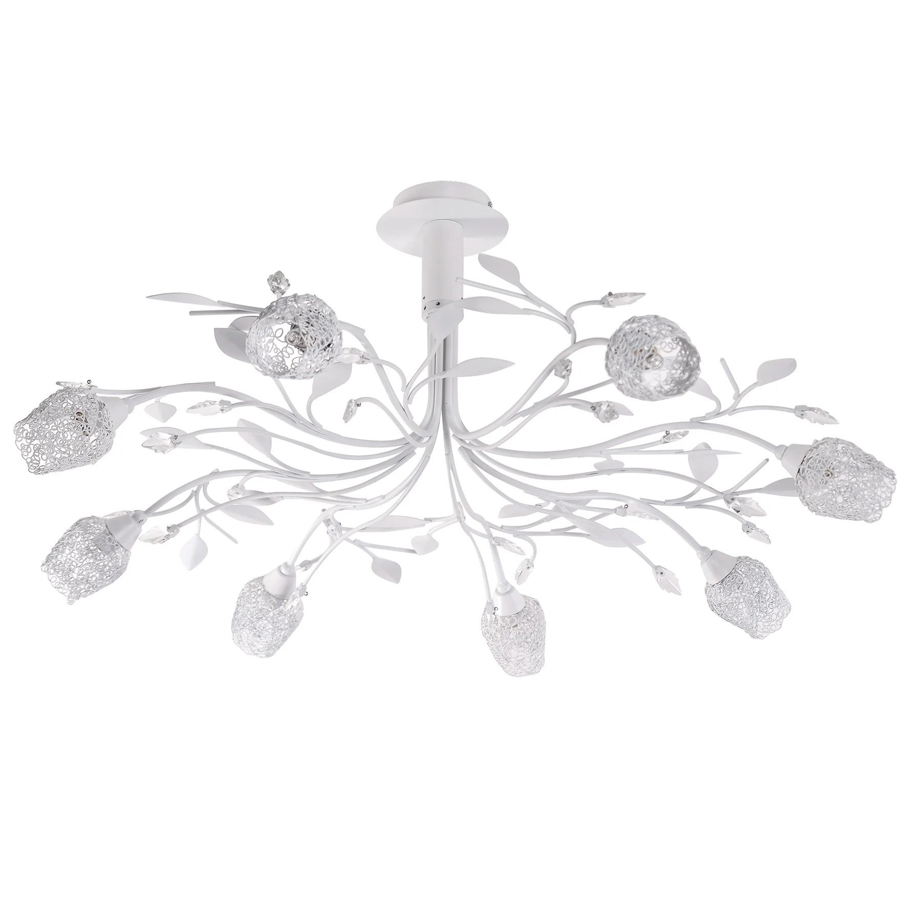 Lustre Design Metal Blanc Seynave Adriana 8 Lumiere S D 16 Cm Leroy Merlin