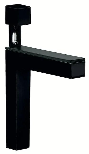 Support Pour Tablette Radiateur Metal Glossy Noir X L 1 Cm Leroy Merlin