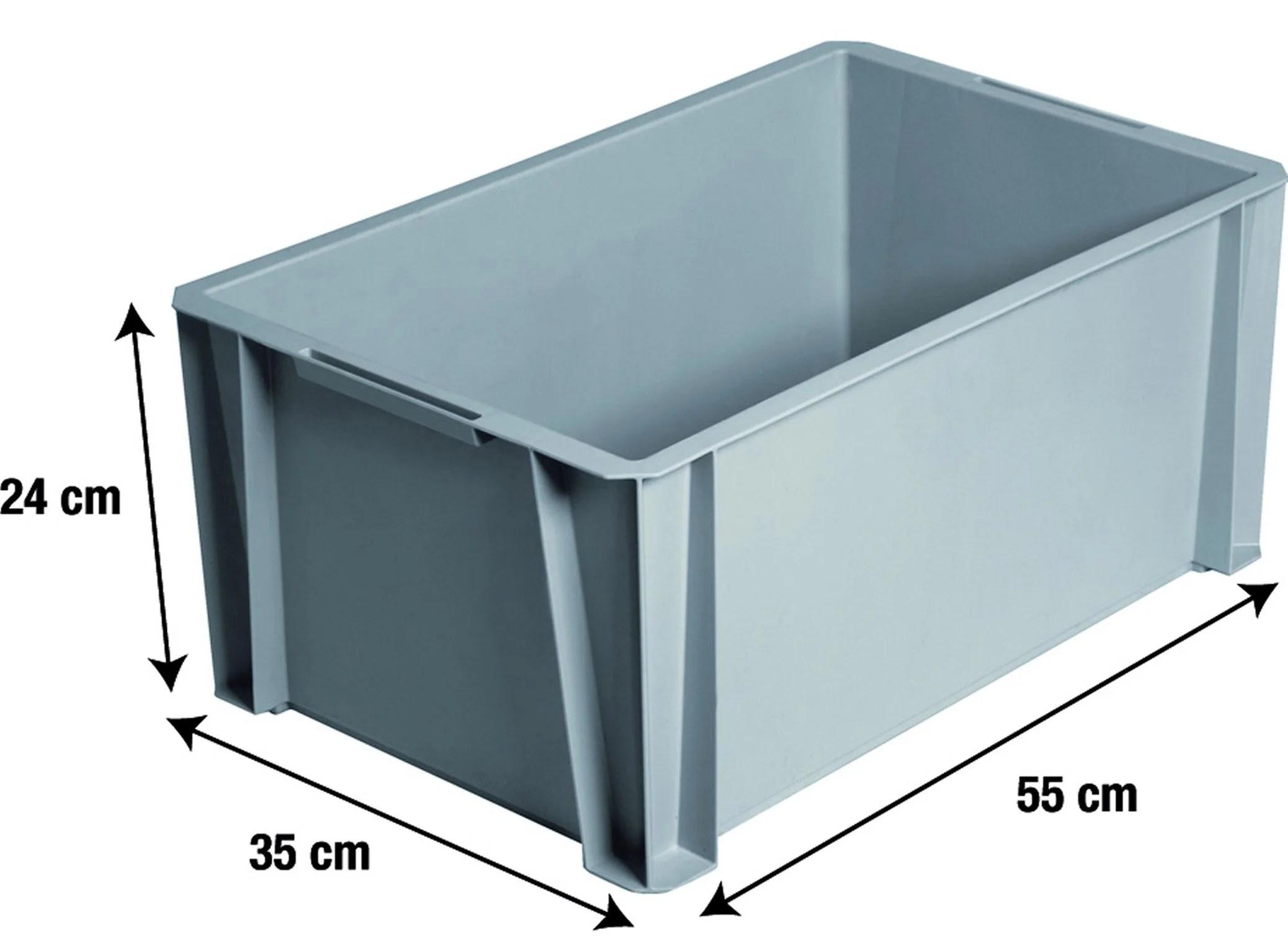 Bac De Manutention Iris Plastique Gris L 55 X P 35 X H 24 5 Cm Cm 36 L Leroy Merlin