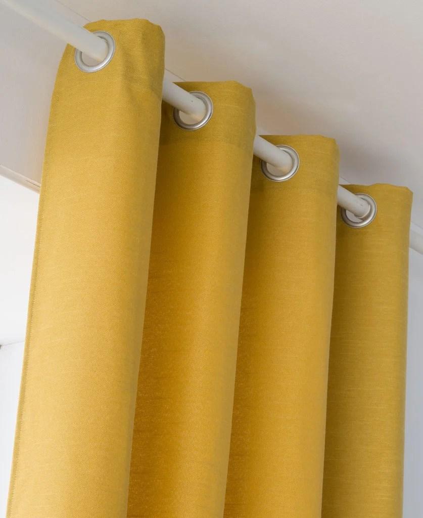 rideau tamisant indigo jaune l 135 x h