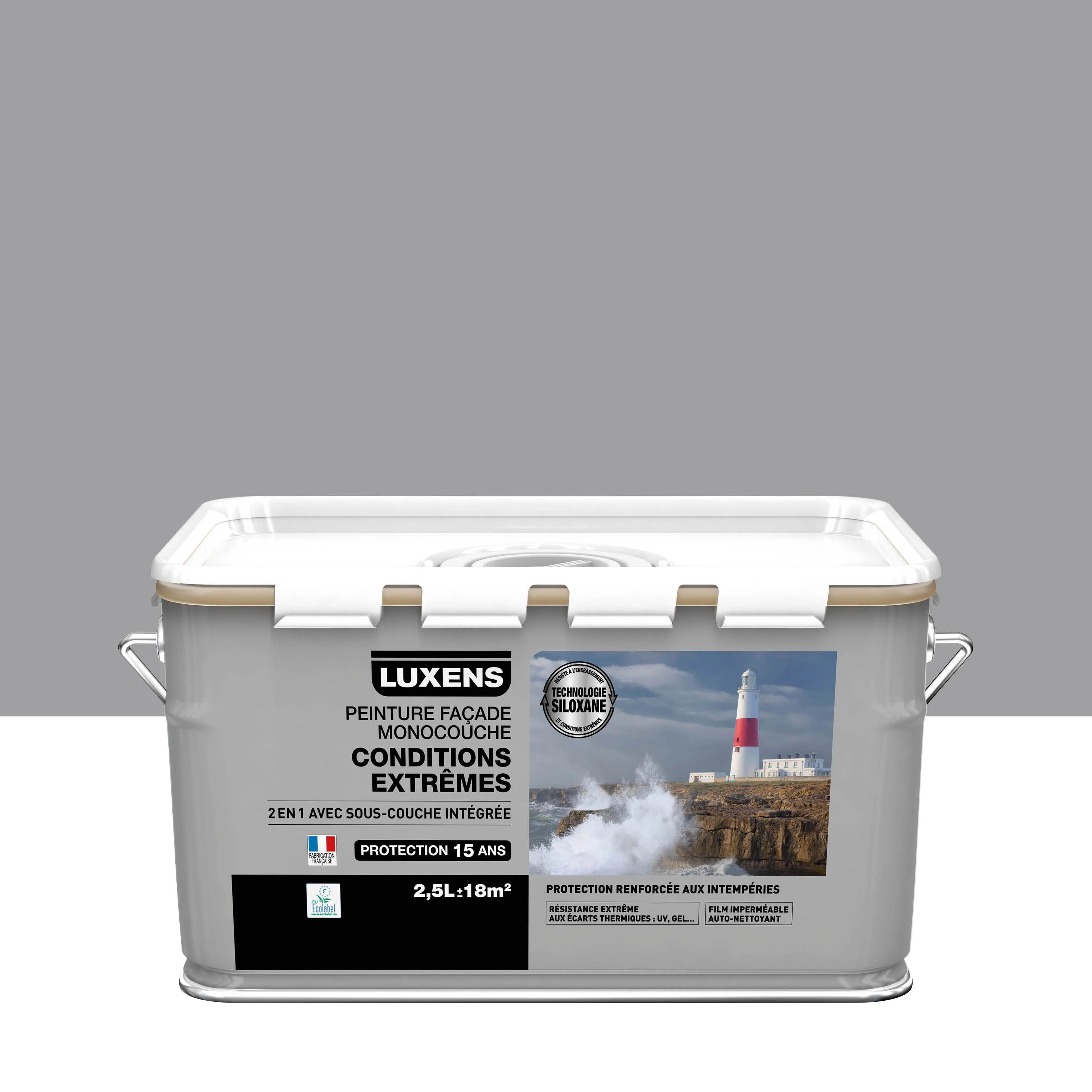 Peinture Facade Conditions Extremes Luxens Gris2 2 5 L Leroy Merlin