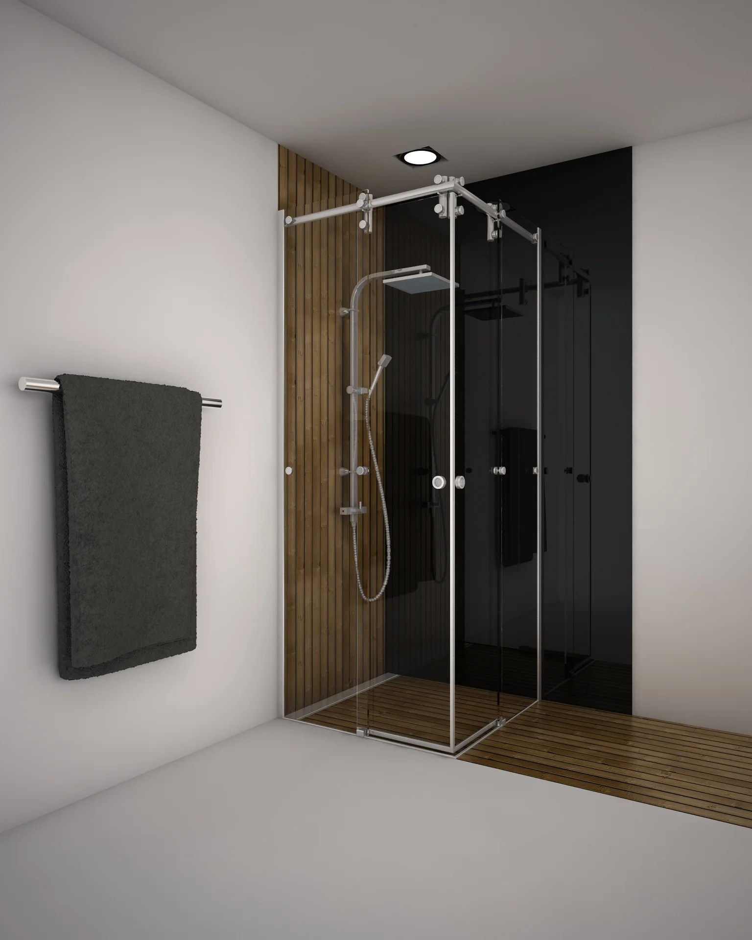 porte de douche coulissante angle carre 80 x 80 cm transparent ellipse2